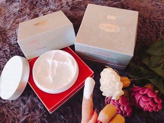 kem body trắng da bơ sữa swhite