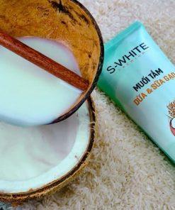 Muối tắm dừa và sữa gạo swhite