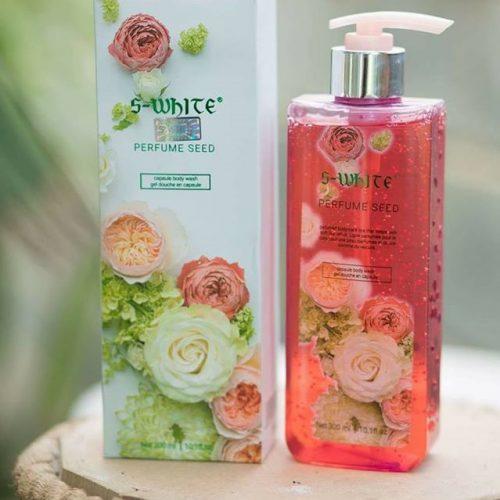 sữa tắm hương hoa hồng swhite