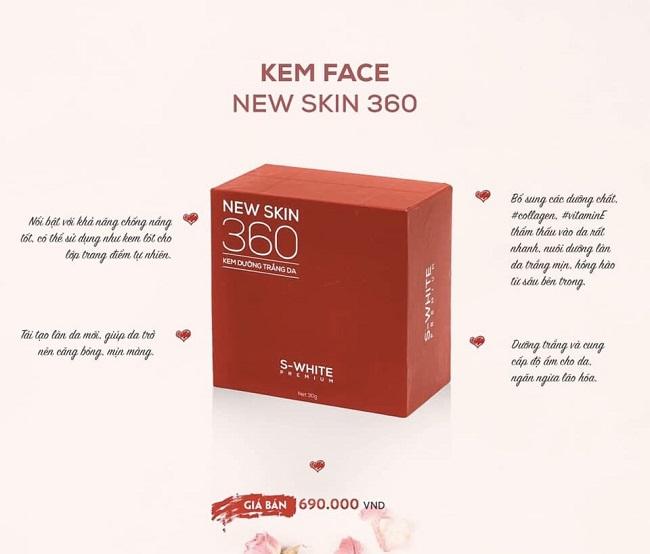 công dụng kem face newskin 360 swhite