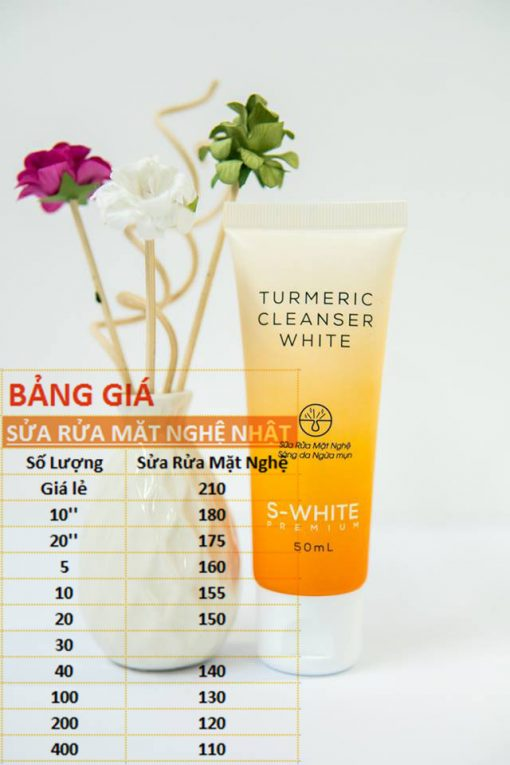 Bảng giá sữa rửa mặt nghệ nhật swhite