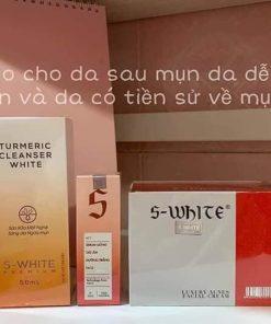 Bộ Sản Phẩm Swhite Cho Da Mụn Cám Thâm Mụn