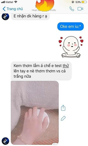 feedback kem body cốt swhite