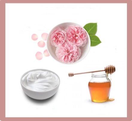 Mặt nạ dưỡng da mùa hè từ mật ong, sữa chua và nước hoa hồng